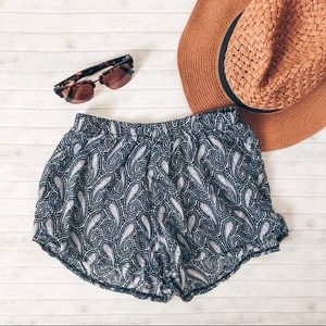 Brandy Melville Paisley Soft Shorts